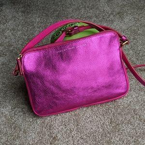 Marc Marc Jacobs pink metallic leather crossbody